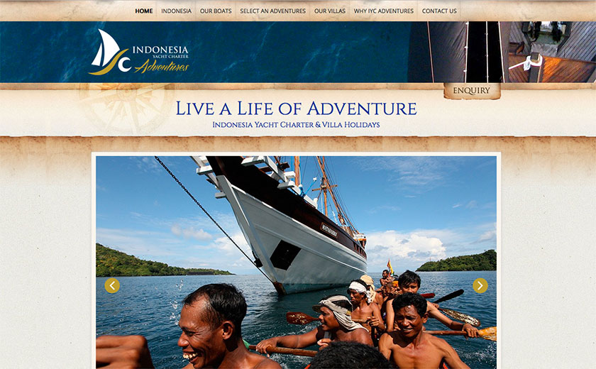 bali web design : Indonesia Yacht Adventures