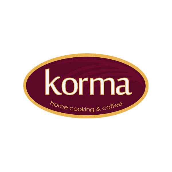 bali logo design : korma coffee shop : korma-coffee-shop